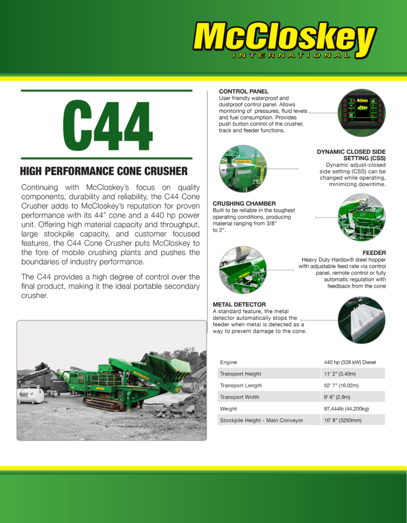 C44 CONE CRUSHER - Bison Iron Corp